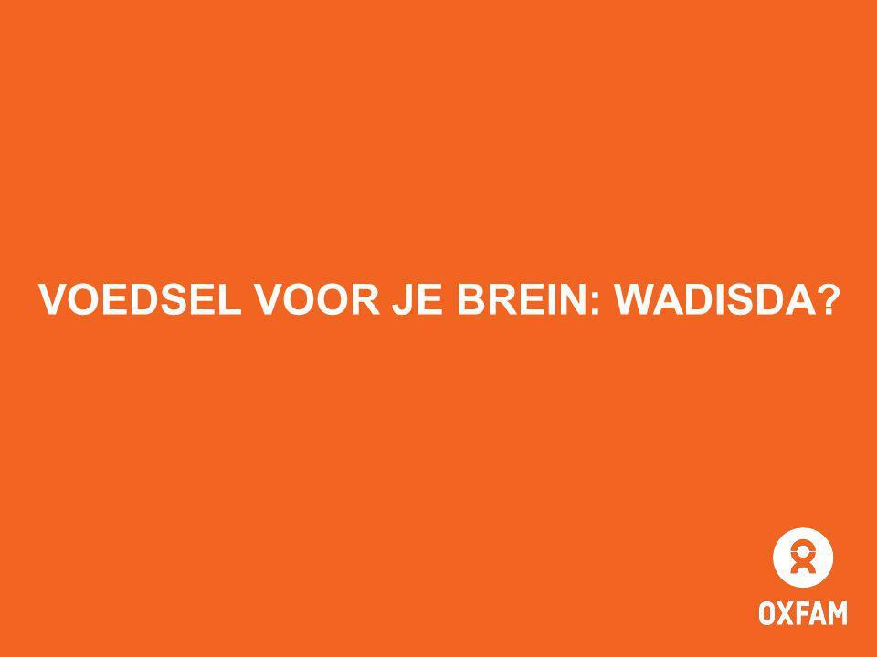 VOEDSEL VOOR JE BREIN: WADISDA