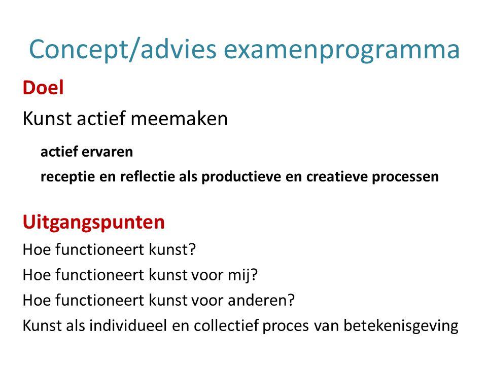 Concept/advies examenprogramma