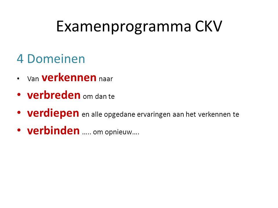Examenprogramma CKV 4 Domeinen verbreden om dan te