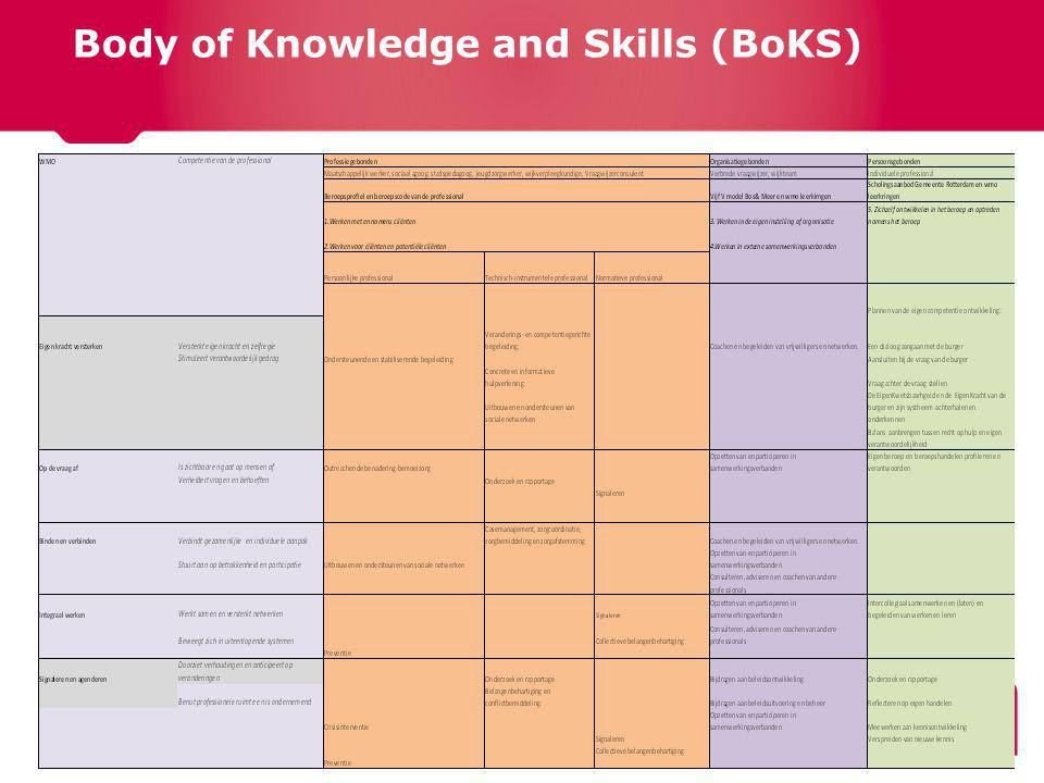 Body of Knowledge and Skills (BoKS)
