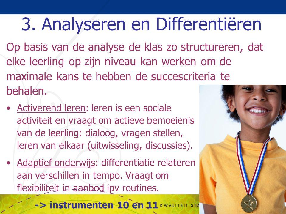 3. Analyseren en Differentiëren