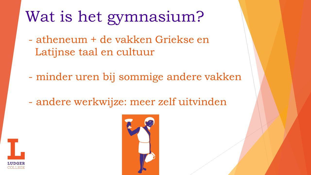 Wat is het gymnasium - atheneum + de vakken Griekse en