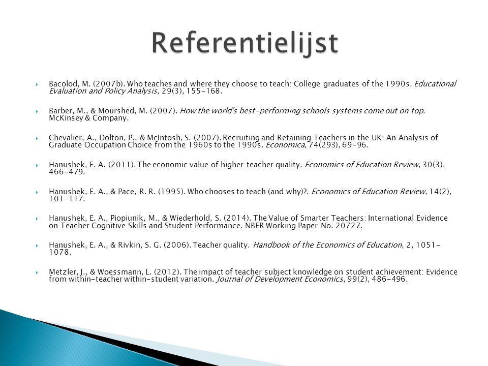 Referentielijst