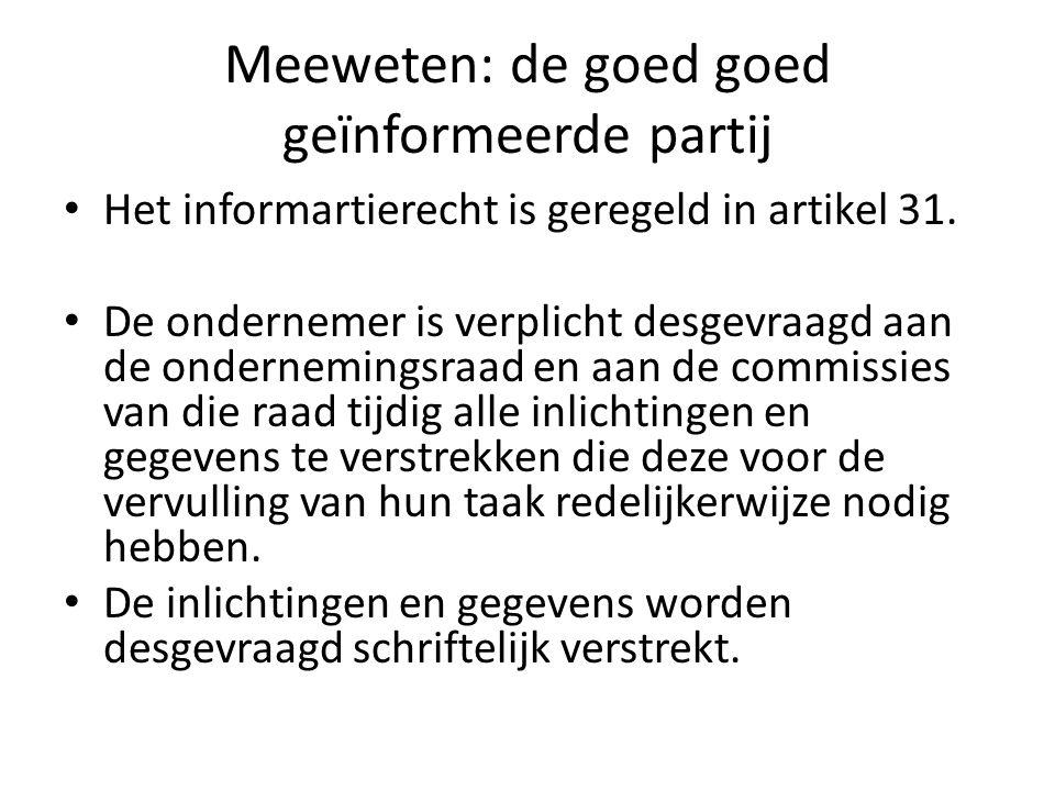 Meeweten: de goed goed geïnformeerde partij