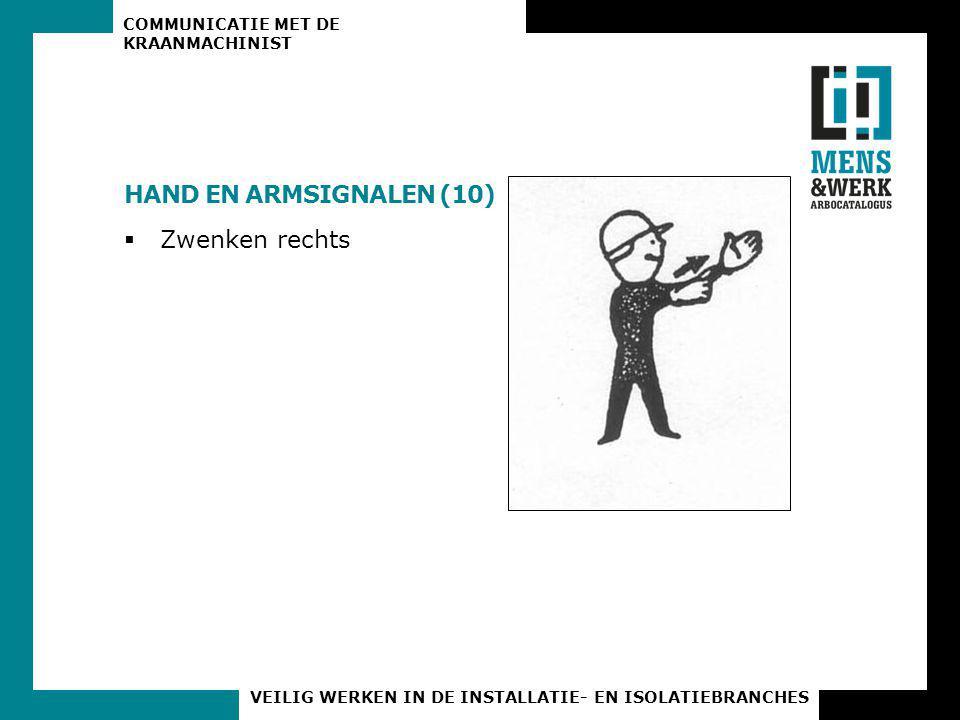 HAND EN ARMSIGNALEN (10) Zwenken rechts