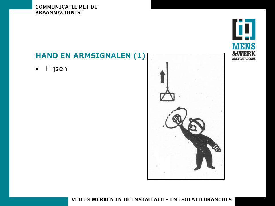 HAND EN ARMSIGNALEN (1) Hijsen