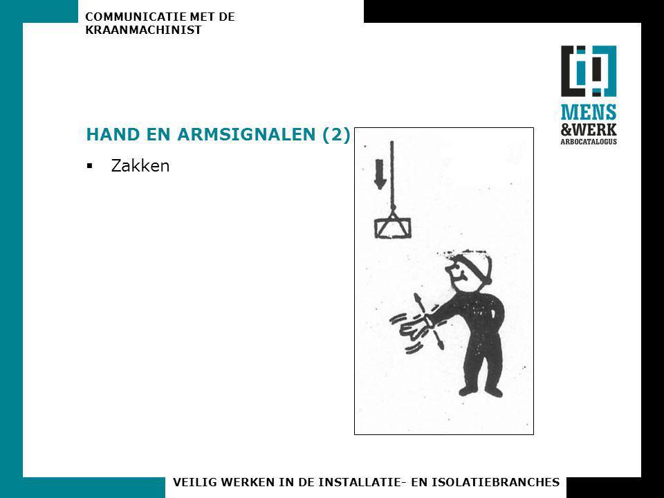 HAND EN ARMSIGNALEN (2) Zakken