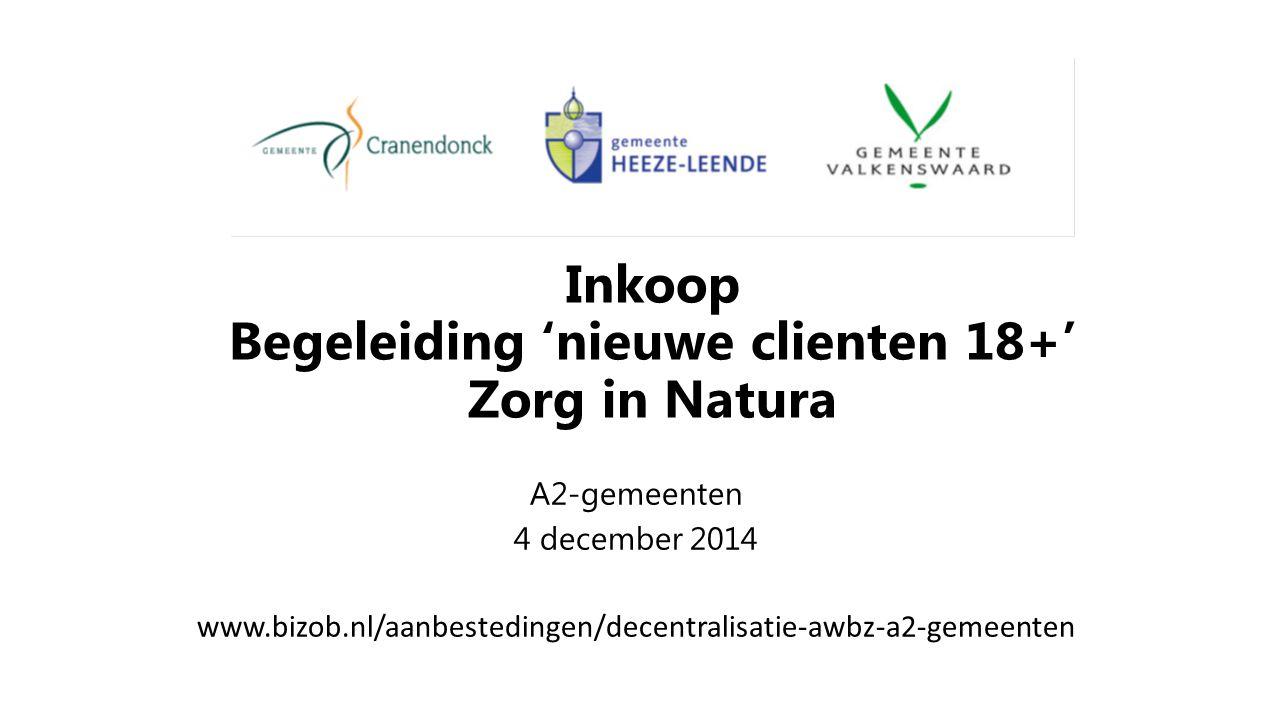 Inkoop Begeleiding 'nieuwe clienten 18+' Zorg in Natura