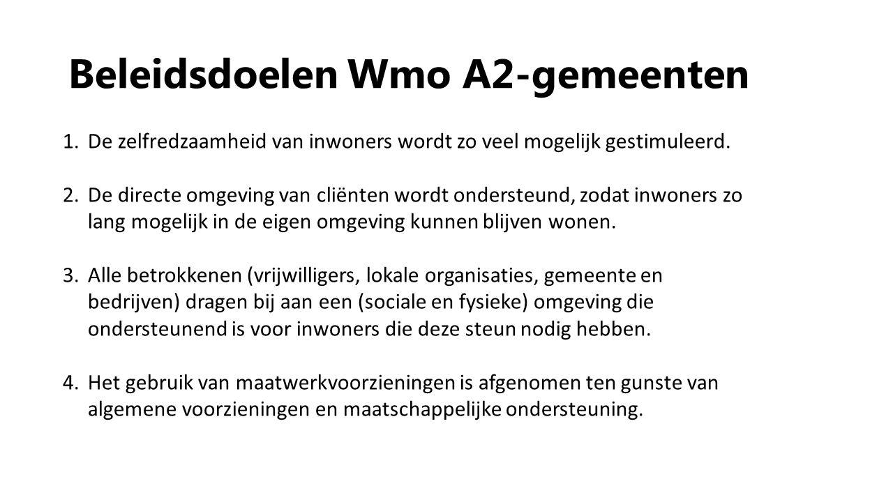 Beleidsdoelen Wmo A2-gemeenten