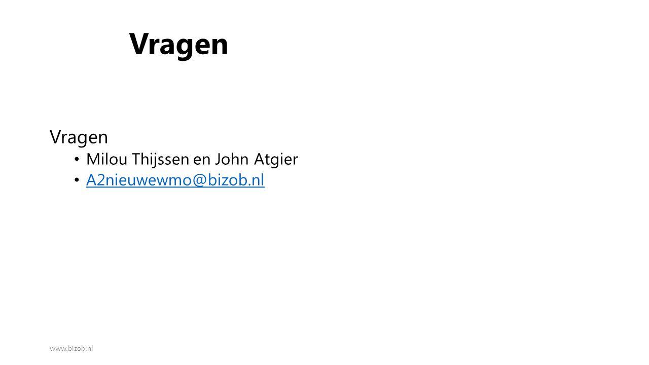 Vragen Vragen Milou Thijssen en John Atgier A2nieuwewmo@bizob.nl