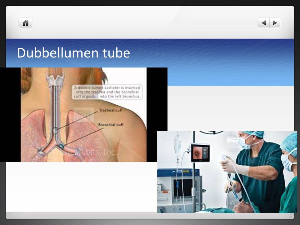 Dubbellumen tube