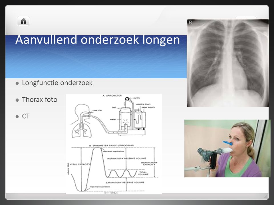 Aanvullend onderzoek longen