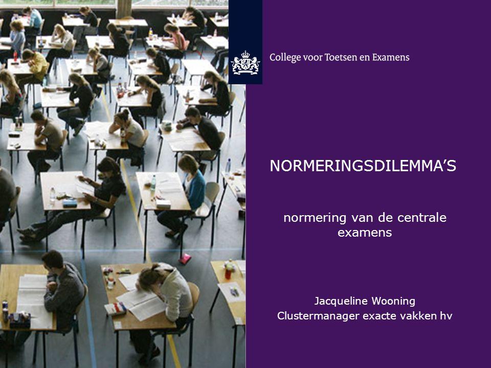 Normeringsdilemma's normering van de centrale examens