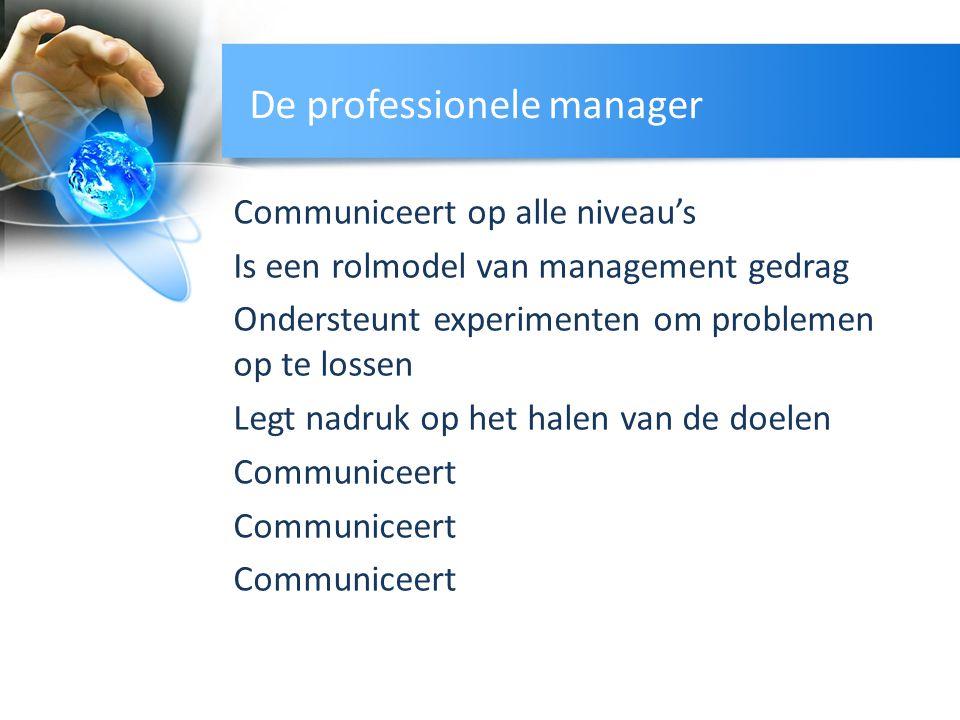 De professionele manager