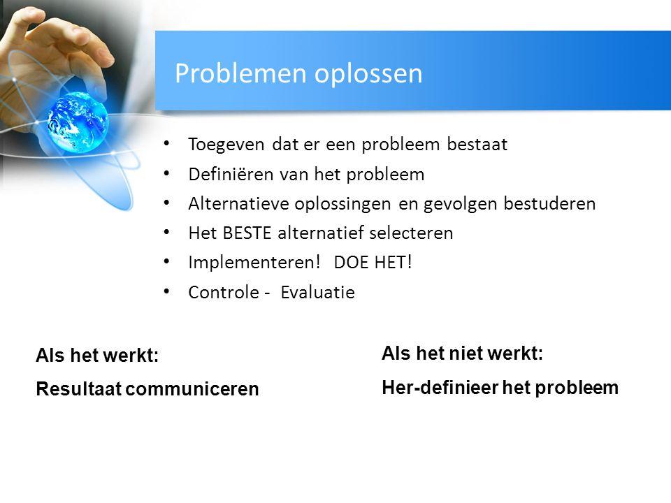 Problemen oplossen Toegeven dat er een probleem bestaat