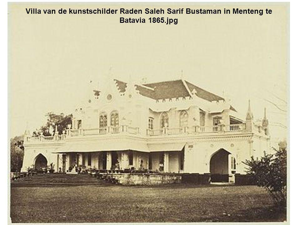 Villa van de kunstschilder Raden Saleh Sarif Bustaman in Menteng te Batavia 1865.jpg
