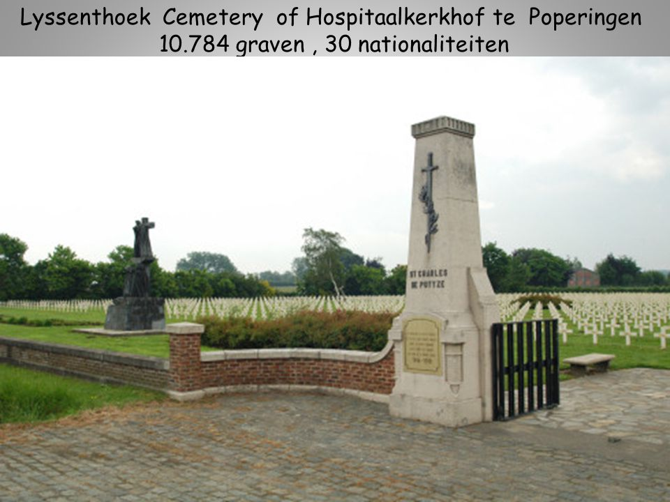Lyssenthoek Cemetery of Hospitaalkerkhof te Poperingen