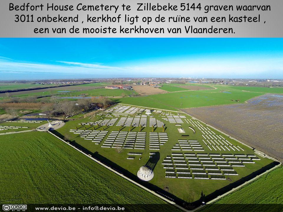 Bedfort House Cemetery te Zillebeke 5144 graven waarvan