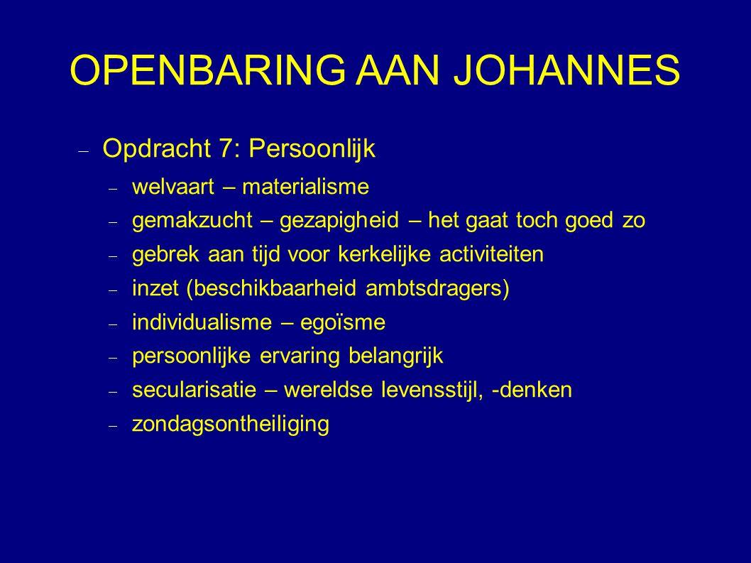 OPENBARING AAN JOHANNES