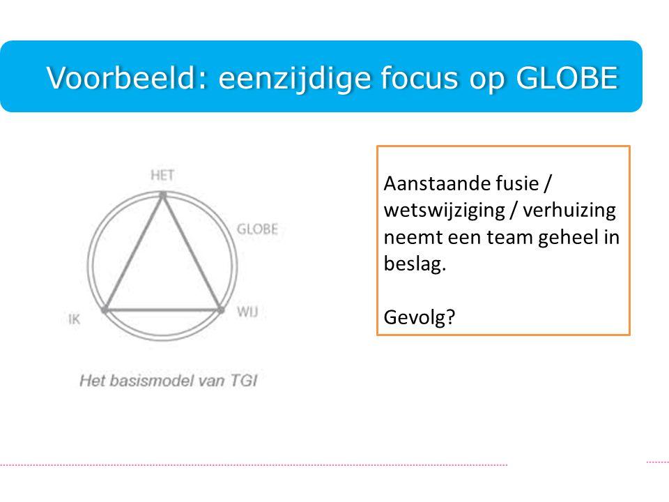 Voorbeeld: eenzijdige focus op GLOBE