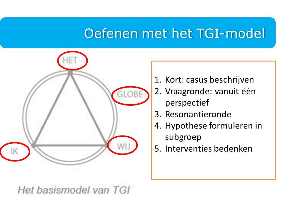 Oefenen met het TGI-model