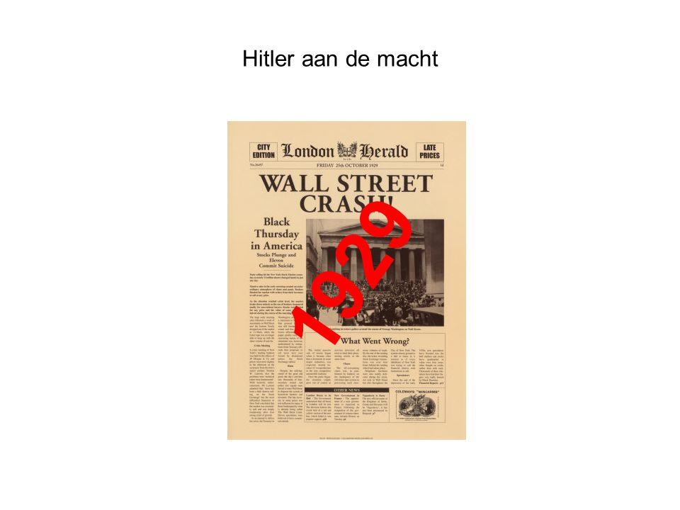 Hitler aan de macht 1929