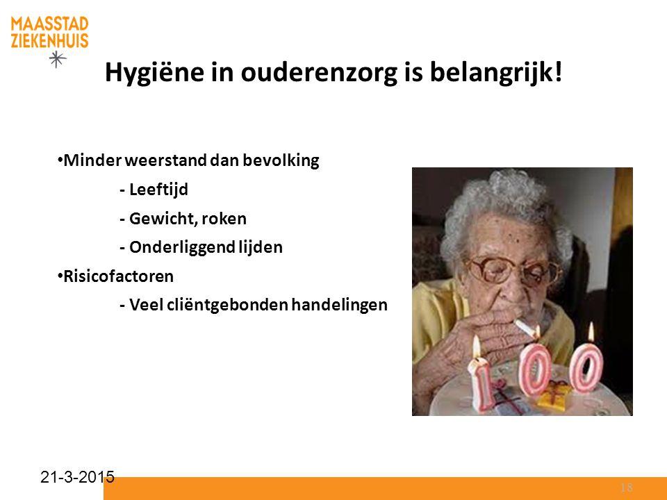 Hygiëne in ouderenzorg is belangrijk!