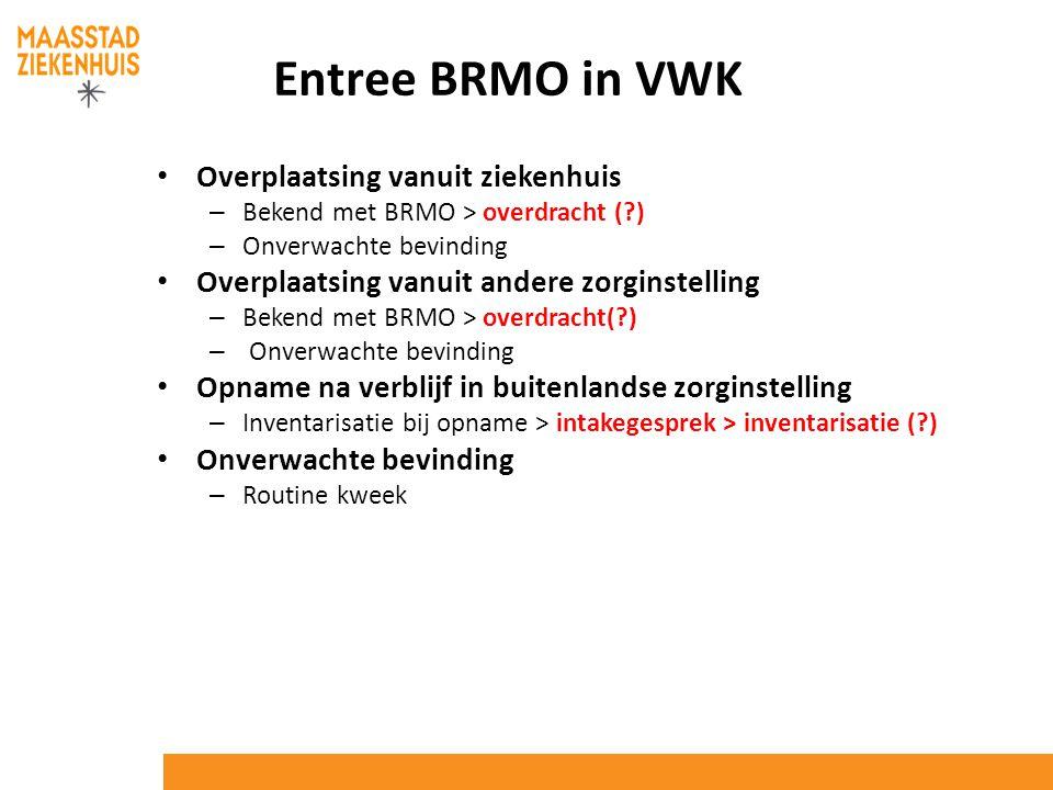 Entree BRMO in VWK Overplaatsing vanuit ziekenhuis