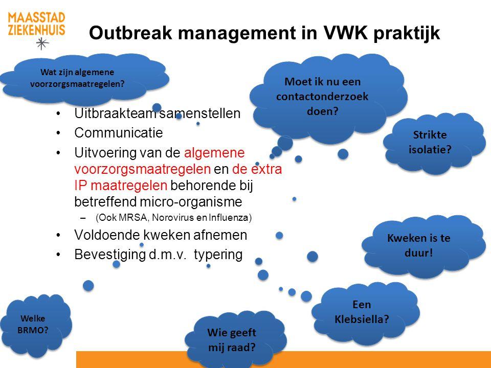 Outbreak management in VWK praktijk