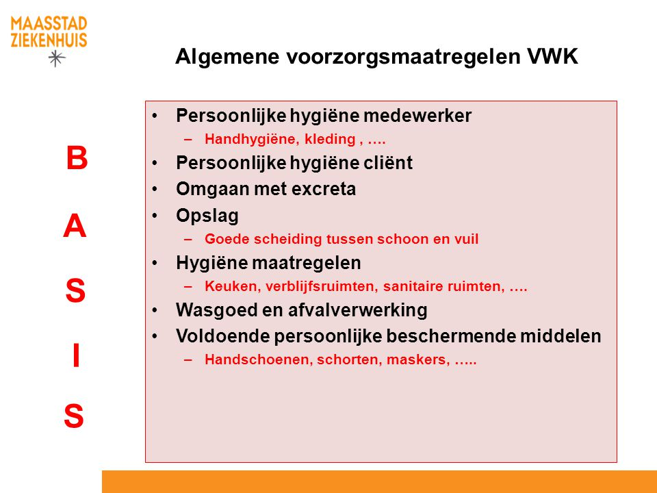 Algemene voorzorgsmaatregelen VWK