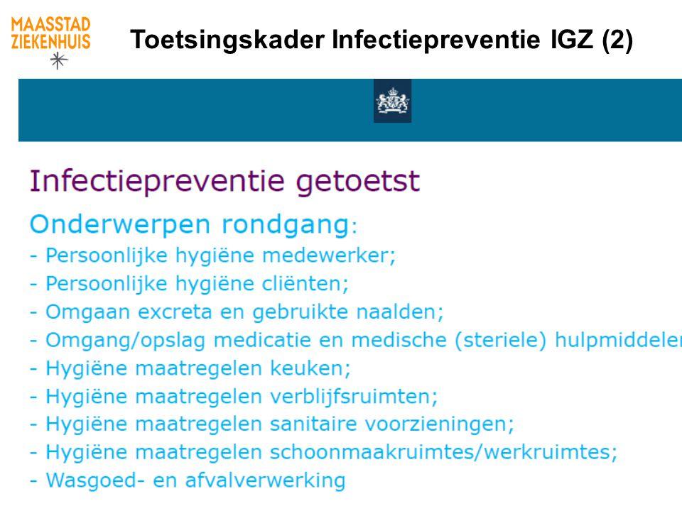 Toetsingskader Infectiepreventie IGZ (2)