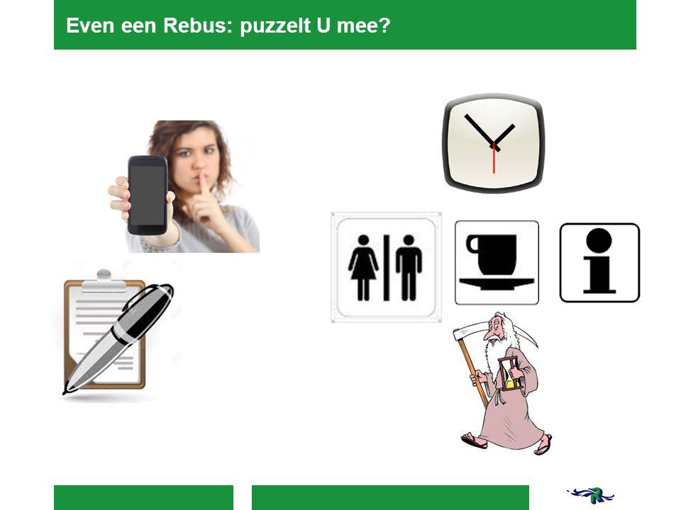 Even een Rebus: puzzelt U mee