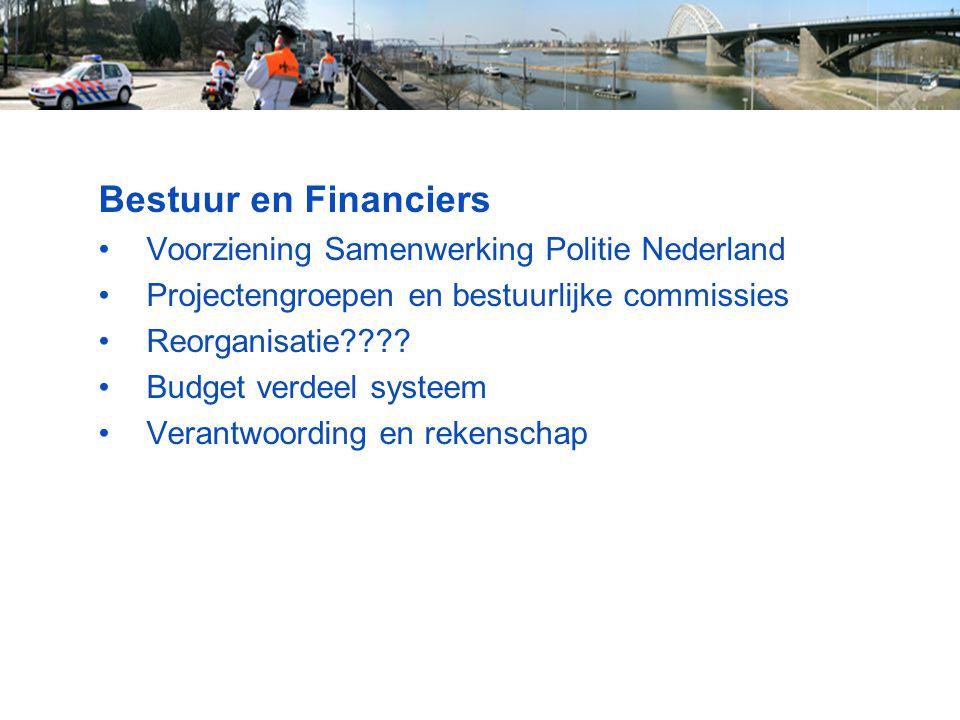 Bestuur en Financiers Voorziening Samenwerking Politie Nederland