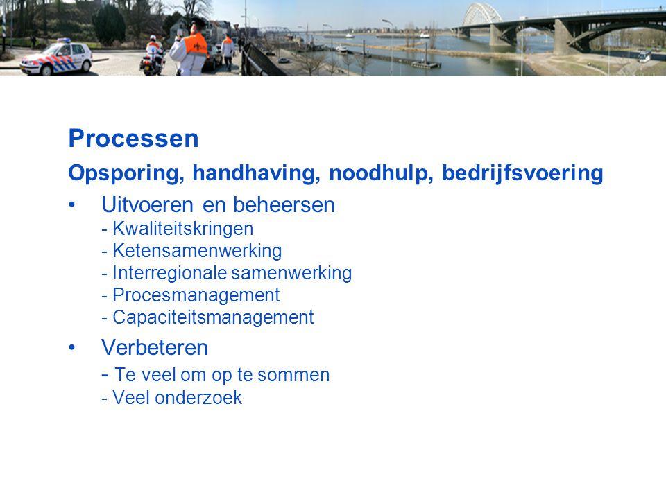 Processen Opsporing, handhaving, noodhulp, bedrijfsvoering