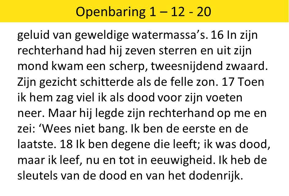 Openbaring 1 – 12 - 20