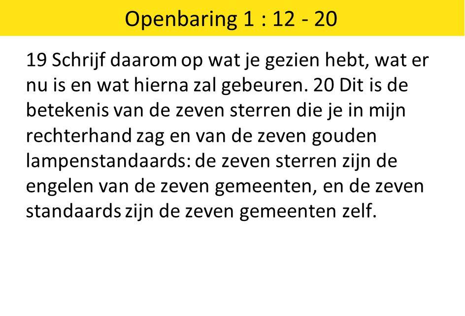 Openbaring 1 : 12 - 20