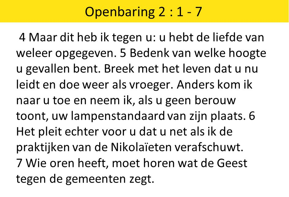 Openbaring 2 : 1 - 7