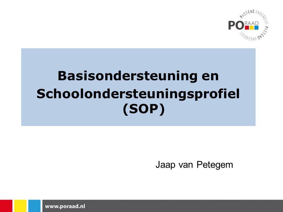 Basisondersteuning en Schoolondersteuningsprofiel (SOP)