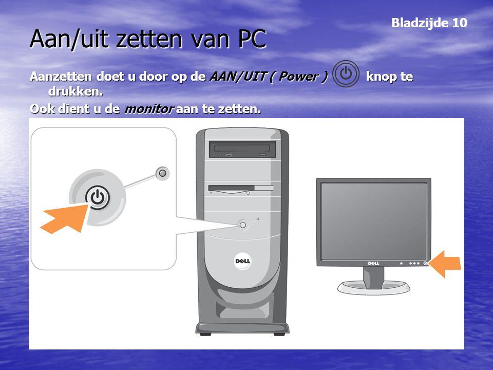 Aan/uit zetten van PC Bladzijde 10