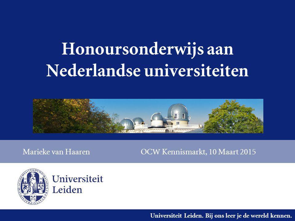 Honoursonderwijs aan Nederlandse universiteiten