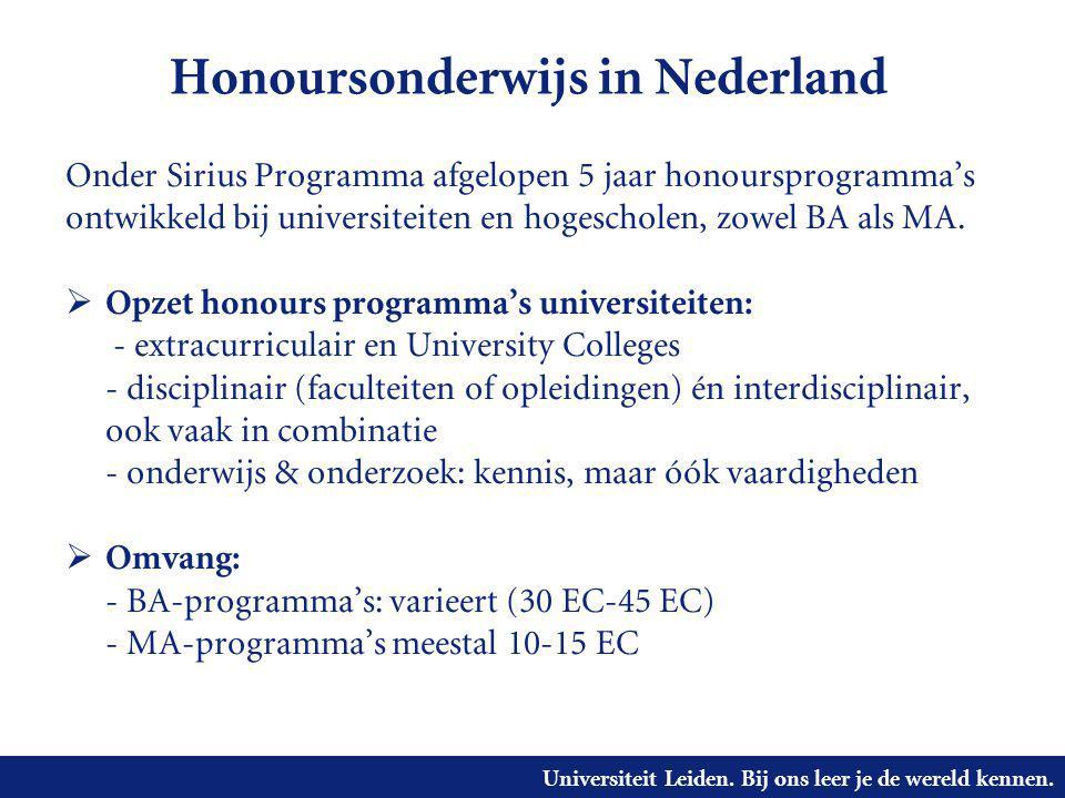Honoursonderwijs in Nederland