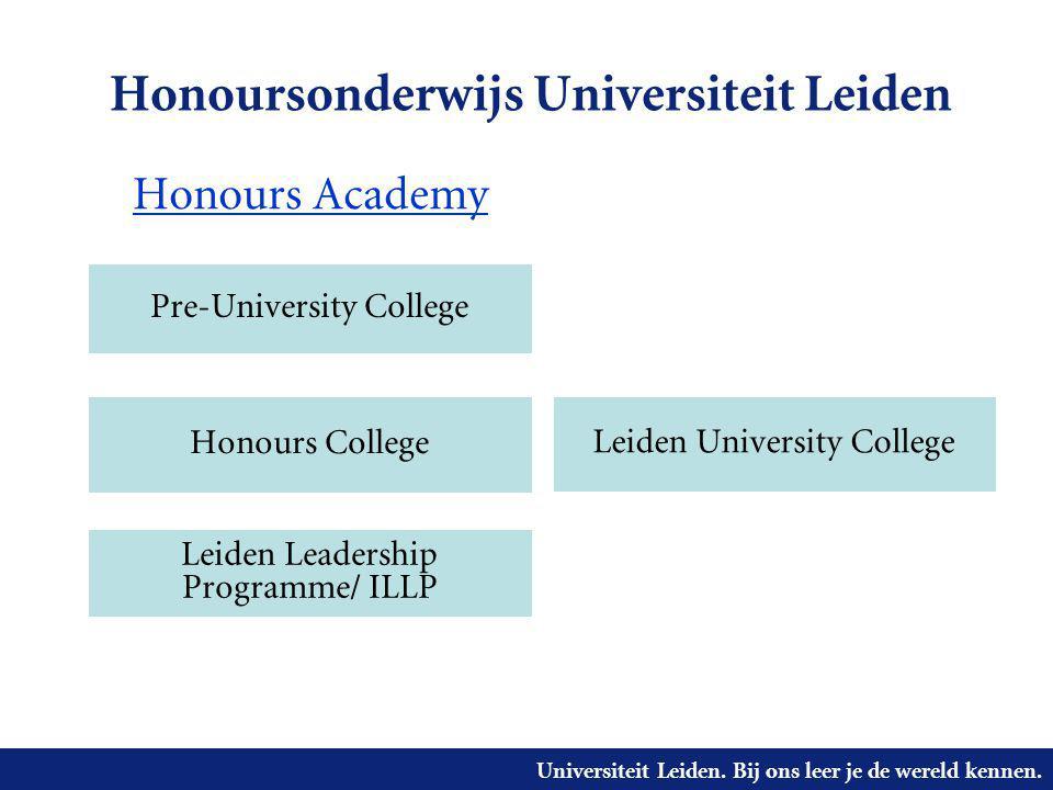 Honoursonderwijs Universiteit Leiden