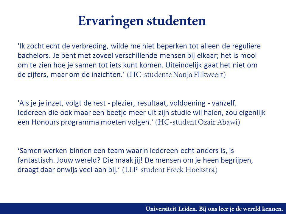 Ervaringen studenten