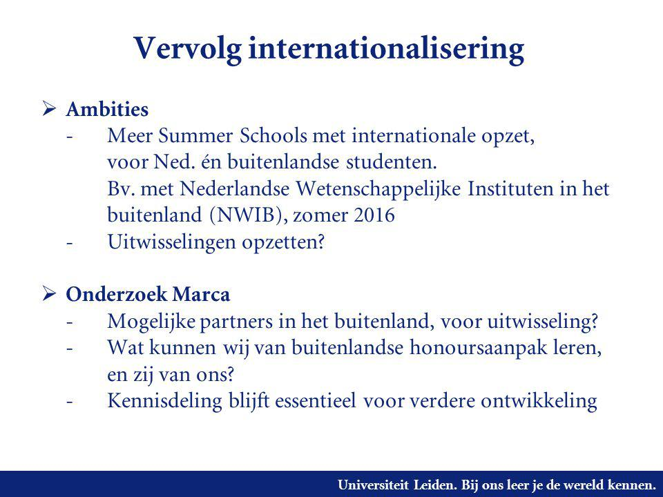 Vervolg internationalisering