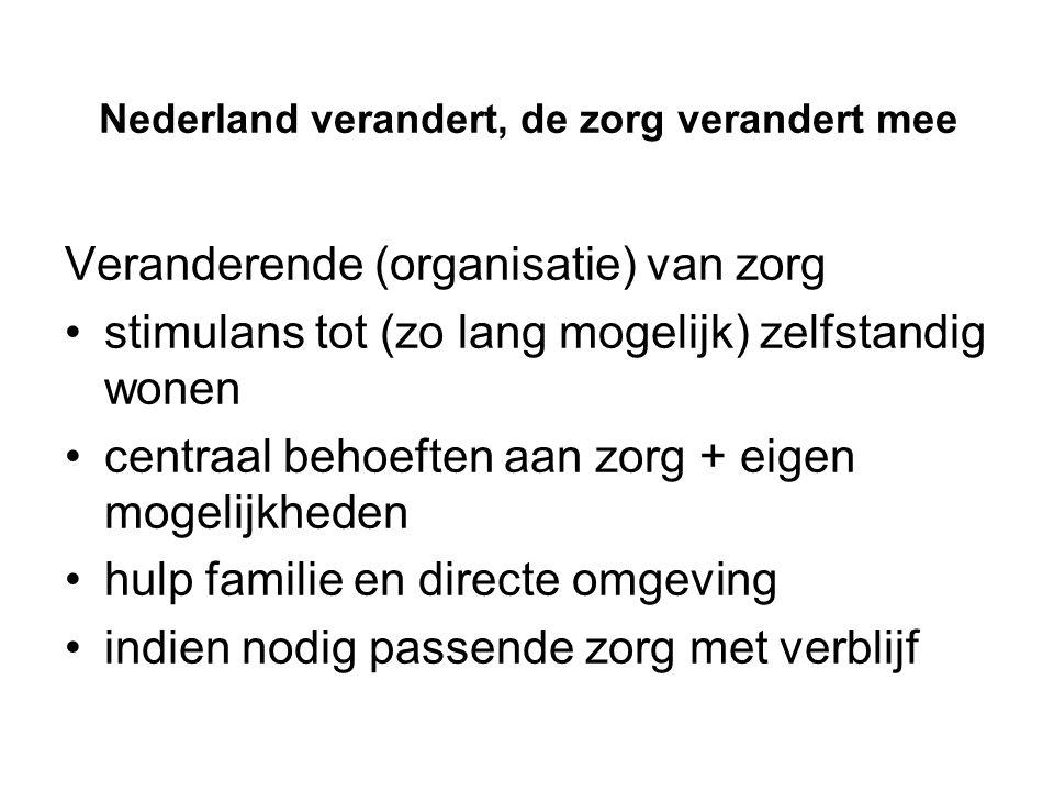Nederland verandert, de zorg verandert mee