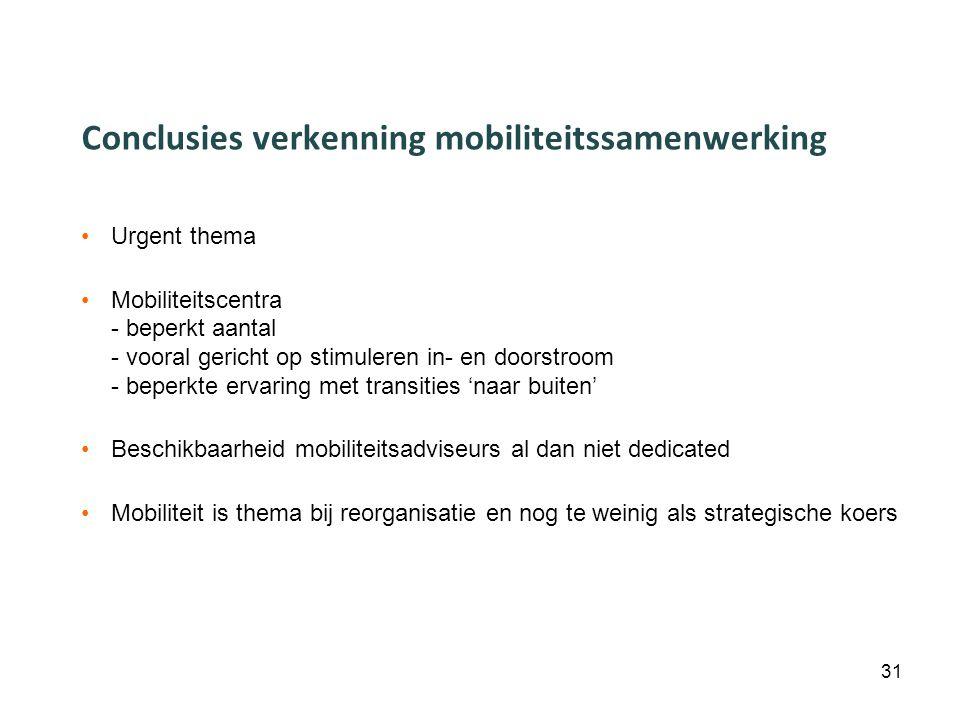 Conclusies verkenning mobiliteitssamenwerking