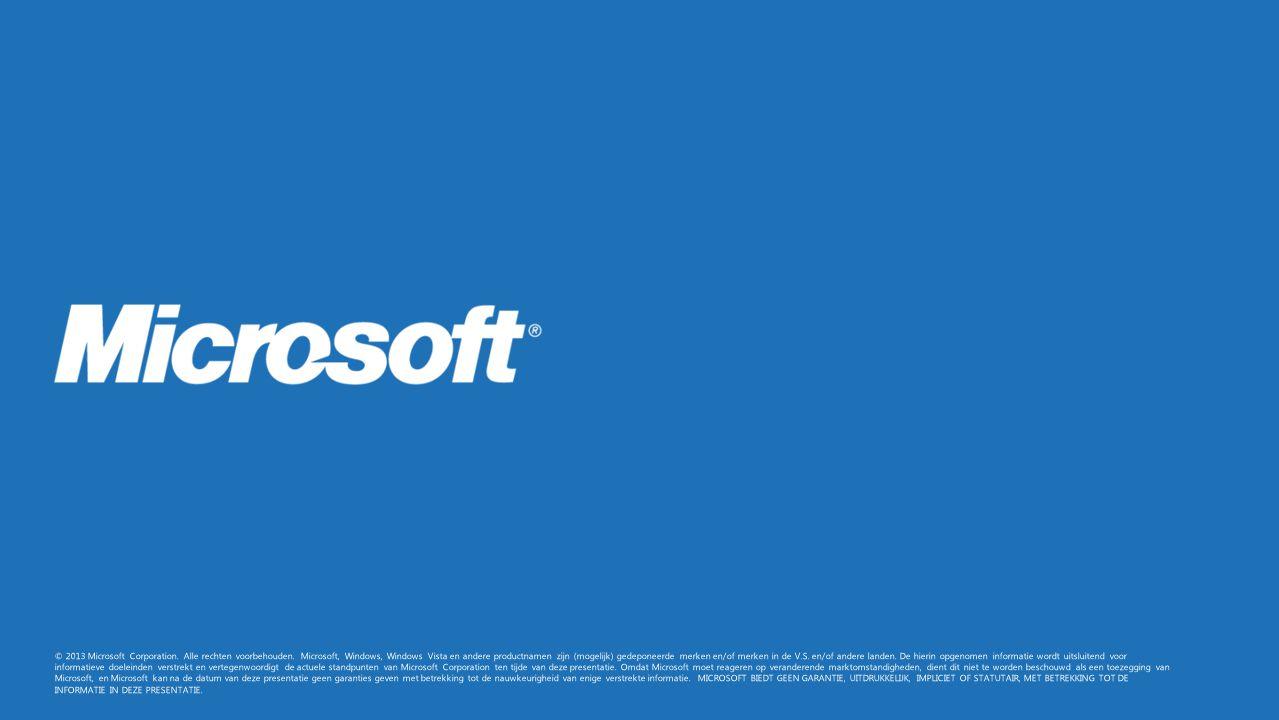 © 2013 Microsoft Corporation. Alle rechten voorbehouden
