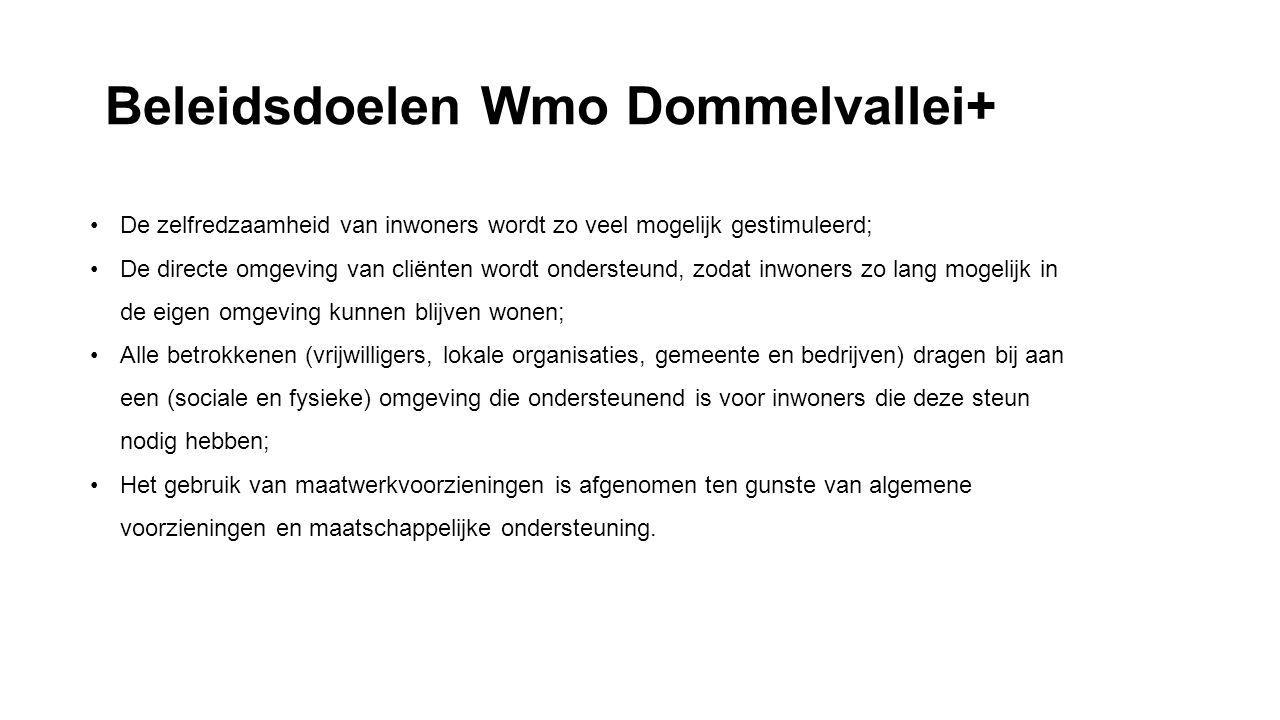 Beleidsdoelen Wmo Dommelvallei+