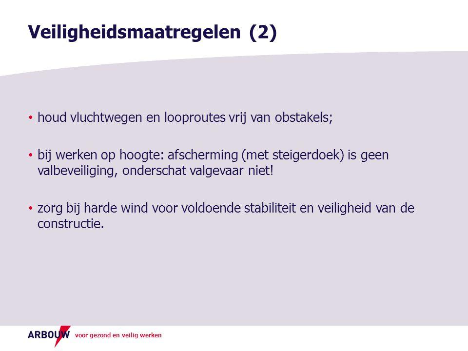 Veiligheidsmaatregelen (2)