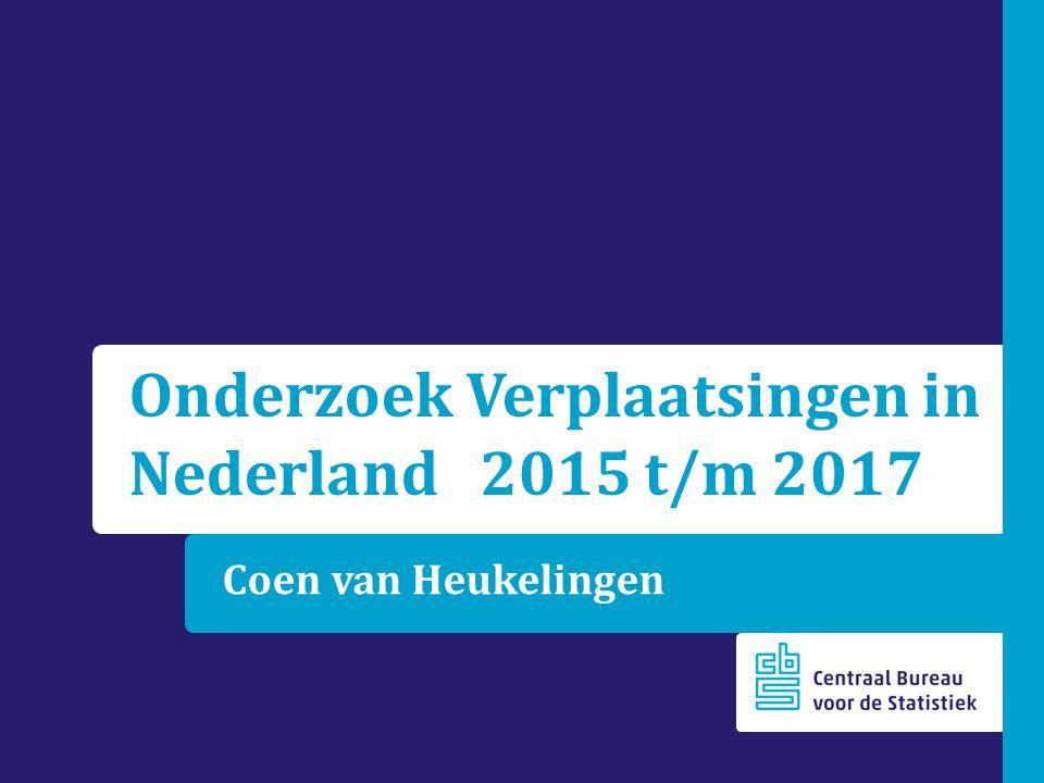 Onderzoek Verplaatsingen in Nederland 2015 t/m 2017